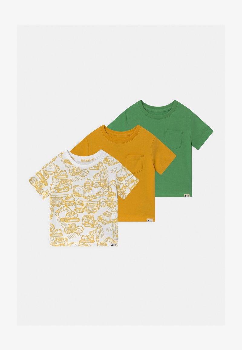 GAP - TODDLER BOY 3 PACK - T-shirt print - yellow sundown