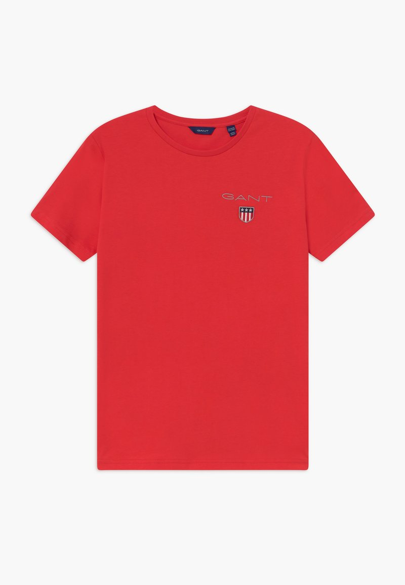GANT - MEDIUM SHIELD - Print T-shirt - red