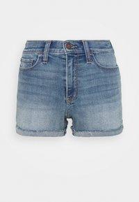 Hollister Co. - PAINTED DAISY - Shorts di jeans - blue denim - 4