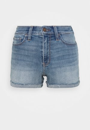 PAINTED DAISY - Shorts di jeans - blue denim