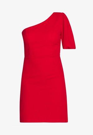 ONE SHOULDER BELL SLEEVE DRESS - Koktejlové šaty/ šaty na párty - red