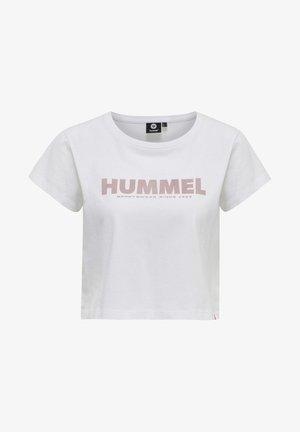 LIFESTYLE  TEXTILIEN  LEGACY CROPPED - Print T-shirt - white