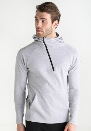 ESSENTIAL HOODY - Long sleeved top - light grey melange/twist of lime