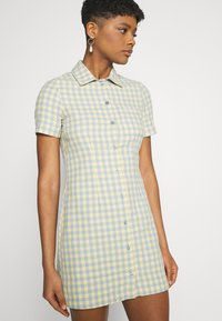 Kickers Classics - GINGHAM SHIRT DRESS - Shirt dress - blue/yellow - 3