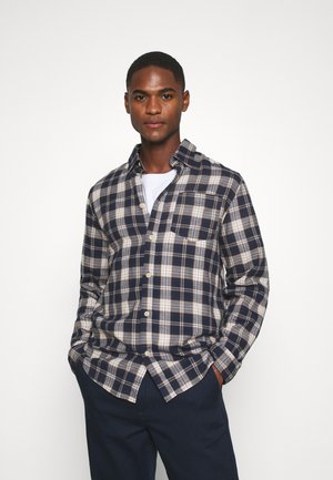 SLHREGMATTHEW CHECK - Shirt - dark navy