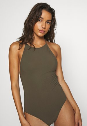 TIE-BACK SWIMSUIT - Swimsuit - olive