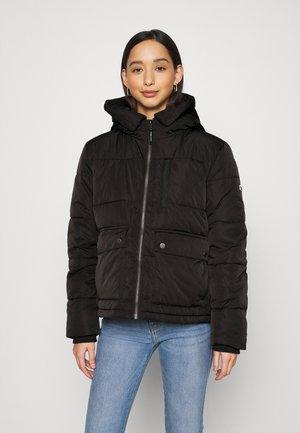 HOODED JACKET - Winterjas - black