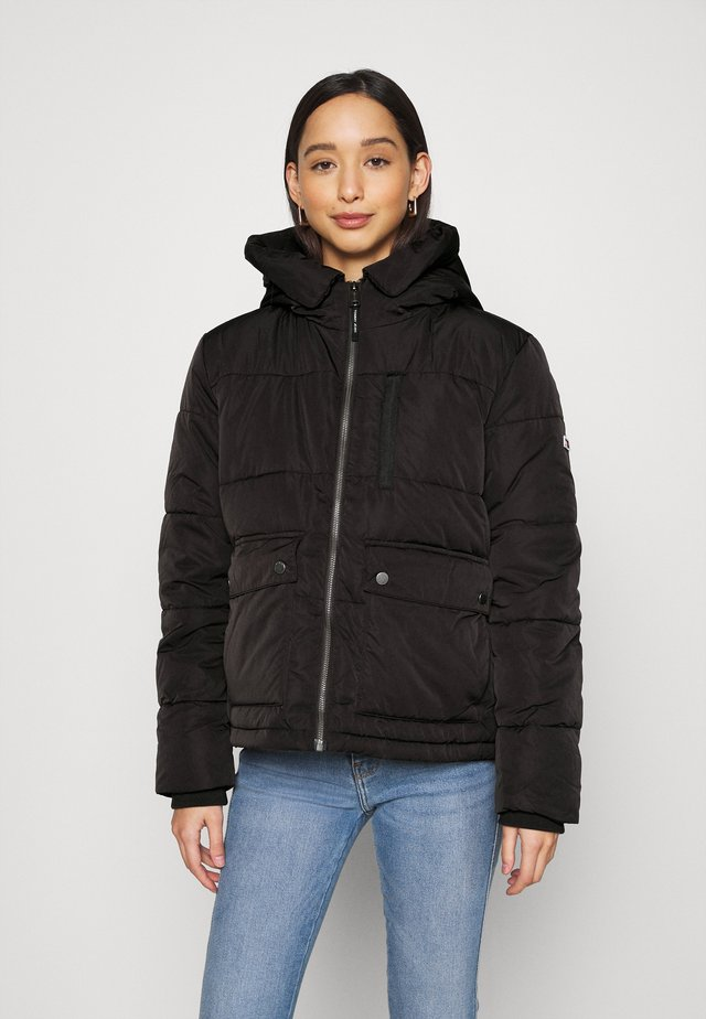 HOODED JACKET - Chaqueta de invierno - black