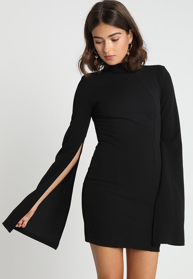 THE SENSE OF MYSTERY DRESS - Vestito di maglina - black