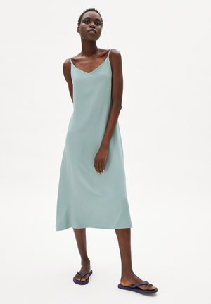 Day dress - eucalyptus green