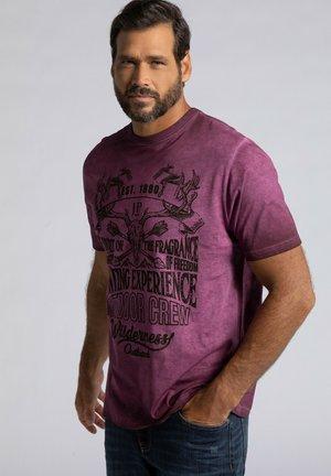 T-shirt print - mahagoni