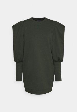 IMOJENE MINI DRESS WITH SHOULDER DETAIL - Jersey dress - dark green