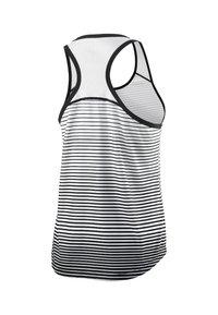 Wilson - TEAM STRIPED TANK - Sports shirt - black/white - 1