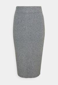 VIRIL PENCIL SKIRT - Pencil skirt - mottled grey