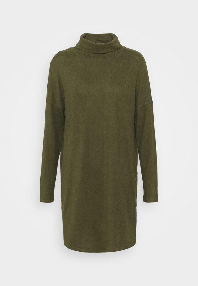 JDYSARA TONSY COWL NECK DRESS - Jumper dress - kalamata