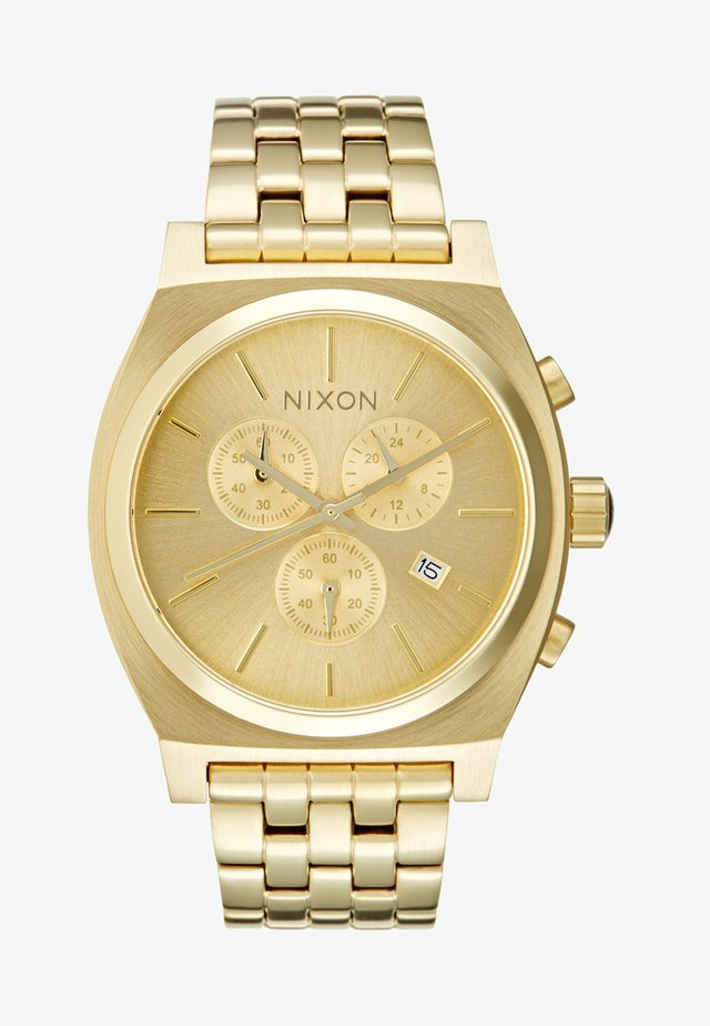 TIME TELLER - Chronograph watch - all gold-coloured