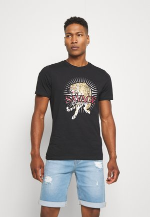 SAVAGE TIGER TEE - T-shirt print - black