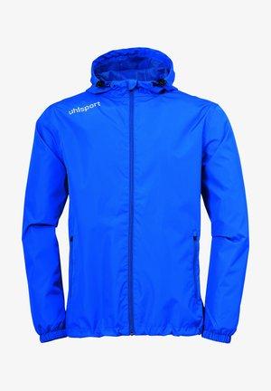 Waterproof jacket - azurblau/weiß