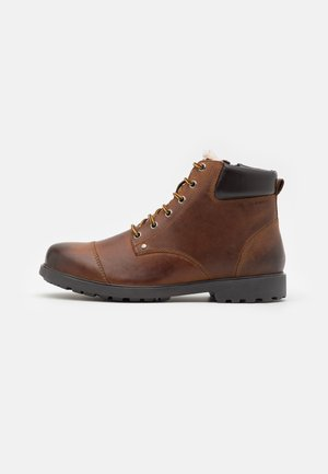 RHADALF - Lace-up ankle boots - browncotto