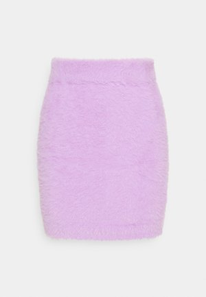 HAIRY SKIRT - Mini skirt - lila