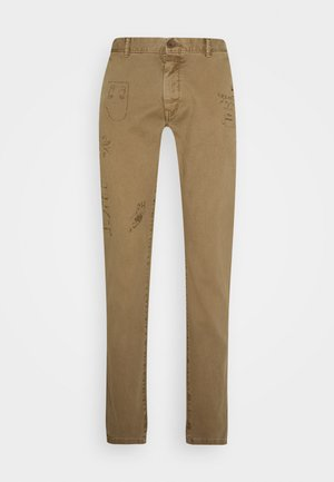 GRAPHIC PAINT - Trousers - tan
