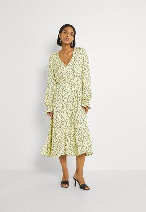 BUTTON UP DRESS - Jersey dress - yellow