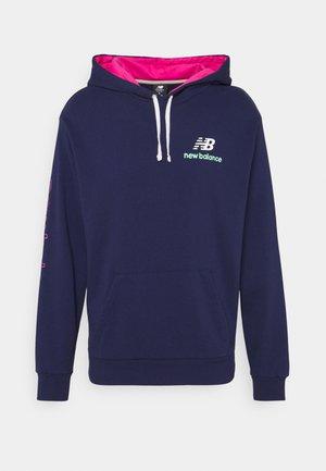 ATHLETICS CLASH HOODIE - Sweatshirt - dark blue