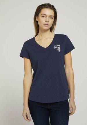 Print T-shirt - real navy blue