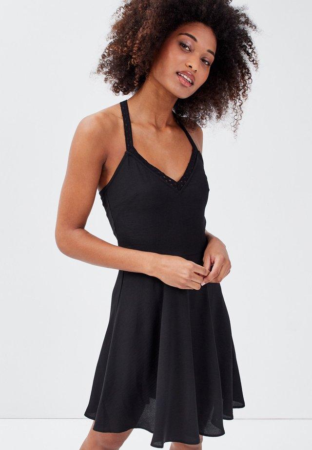 MIT TRÄGERN - Korte jurk - noir