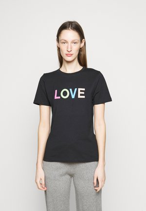 LOVE  - T-shirt con stampa - black/multi-coloured