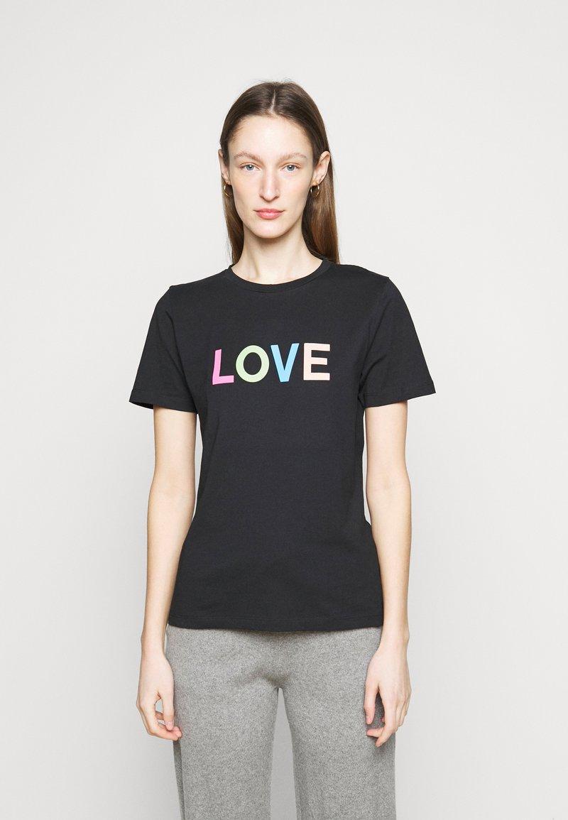 CHINTI & PARKER - LOVE  - Printtipaita - black/multi-coloured