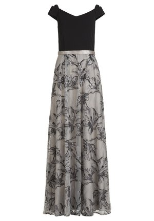 Maxi dress - patch black/grey