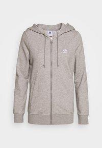 TRACK - Felpa aperta - medium grey heather