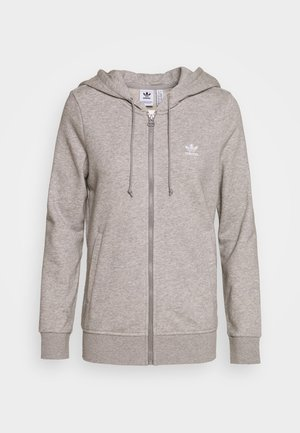 TRACK - Zip-up hoodie - medium grey heather