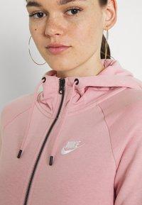 Nike Sportswear - HOODIE - Zip-up sweatshirt - pink glaze/white - 5