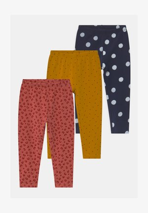 3 PACK - Leggings - Trousers - peacoat/peach blossom/beeswax