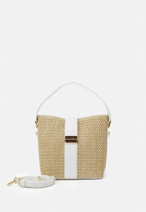 IMOGEN BUCKET BAG - Handbag - straw/white