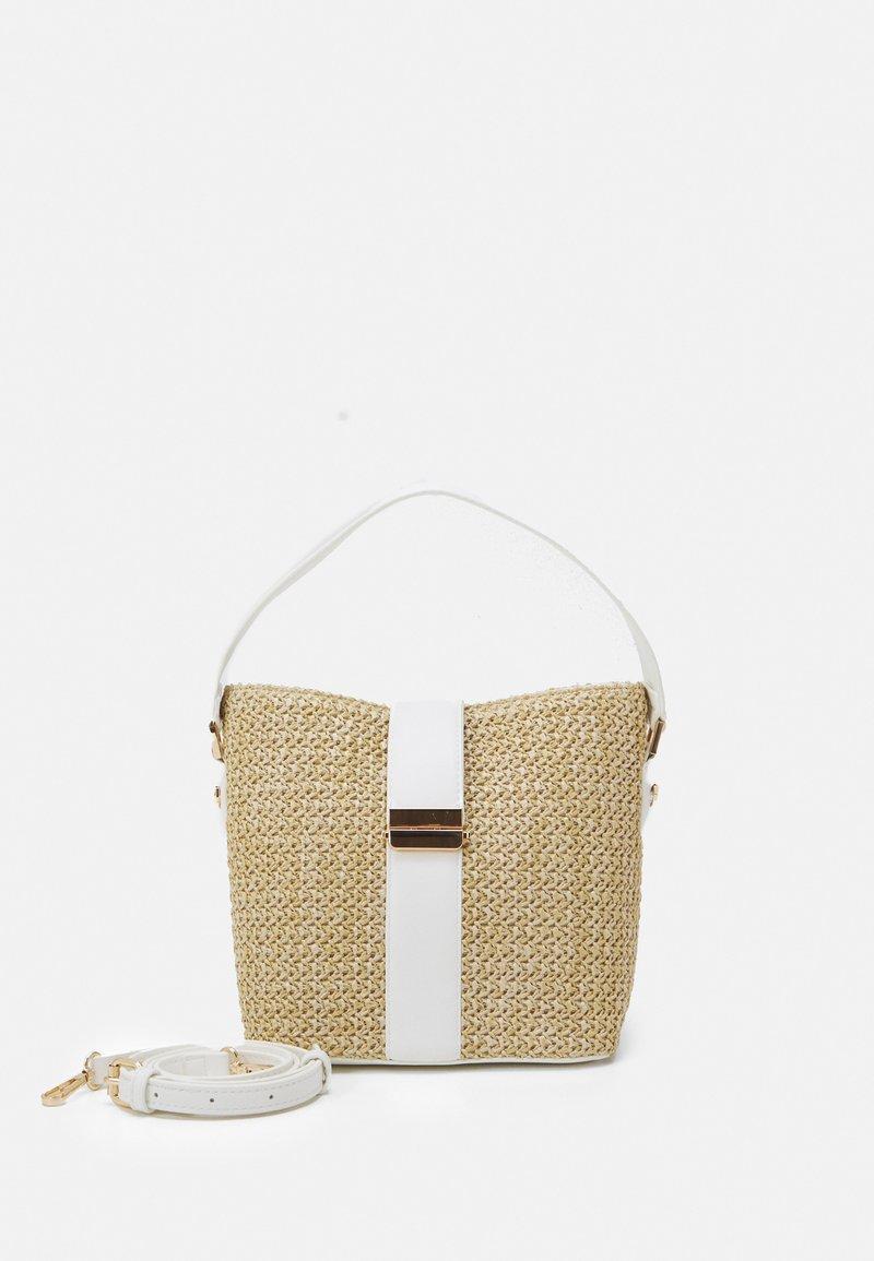 Forever New - IMOGEN BUCKET BAG - Handbag - straw/white
