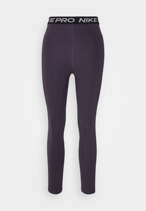 365 7/8 HI RISE - Legginsy - dark raisin/black