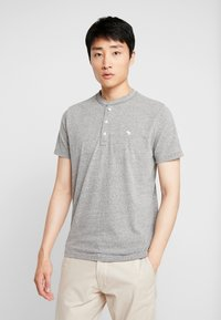 Abercrombie & Fitch - 3 PACK - T-Shirt basic - med grey - 1