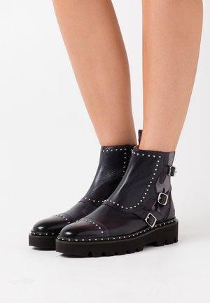 SUSAN - Platform ankle boots - navy