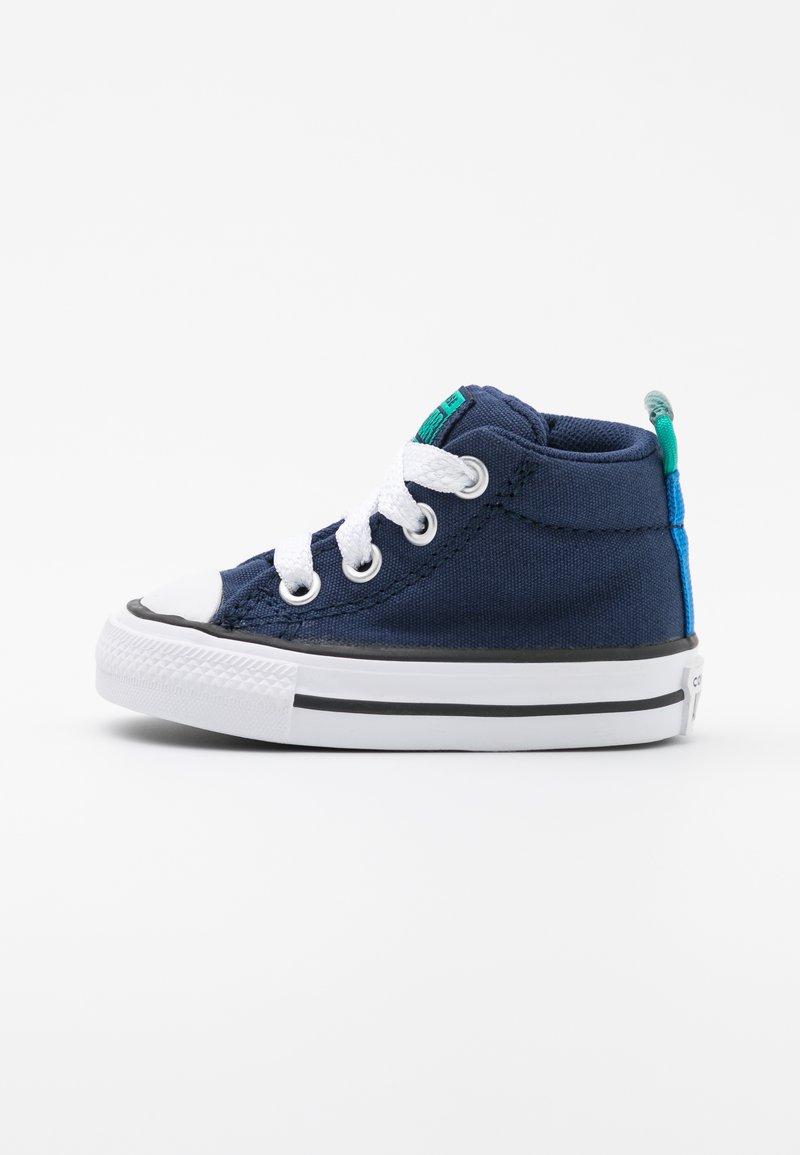 Converse - CHUCK TAYLOR ALL STAR STREET SEASONAL UNISEX - High-top trainers - midnight navy/court green/digital blue