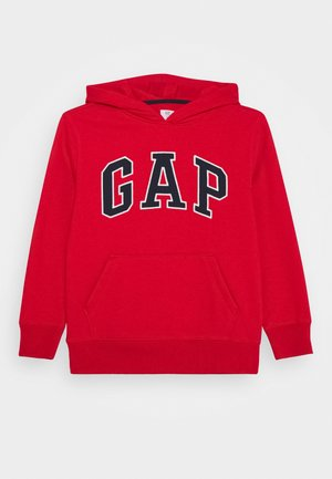 BOY CAMPUS LOGO HOOD - Bluza z kapturem - red wagon