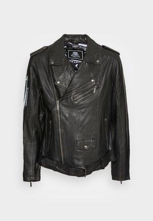 NICLAS BIKER - Leather jacket - black