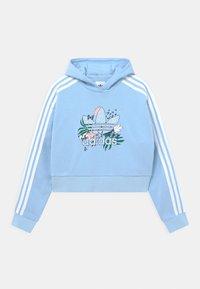 adidas Originals - CROP HOODIE - Felpa - clear sky - 0