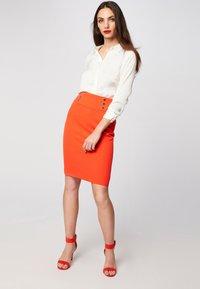 Morgan - Pencil skirt - orange - 1