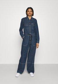 Tommy Jeans - ZIP BOILER SUIT - Jumpsuit - blue - 0
