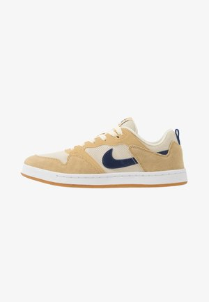 ALLEYOOP - Skate shoes - club gold/midnight navy/fossil/white/light brown