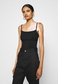 Missguided - RUCHED BUST STRAPPY BODYSUIT - Top - black - 0