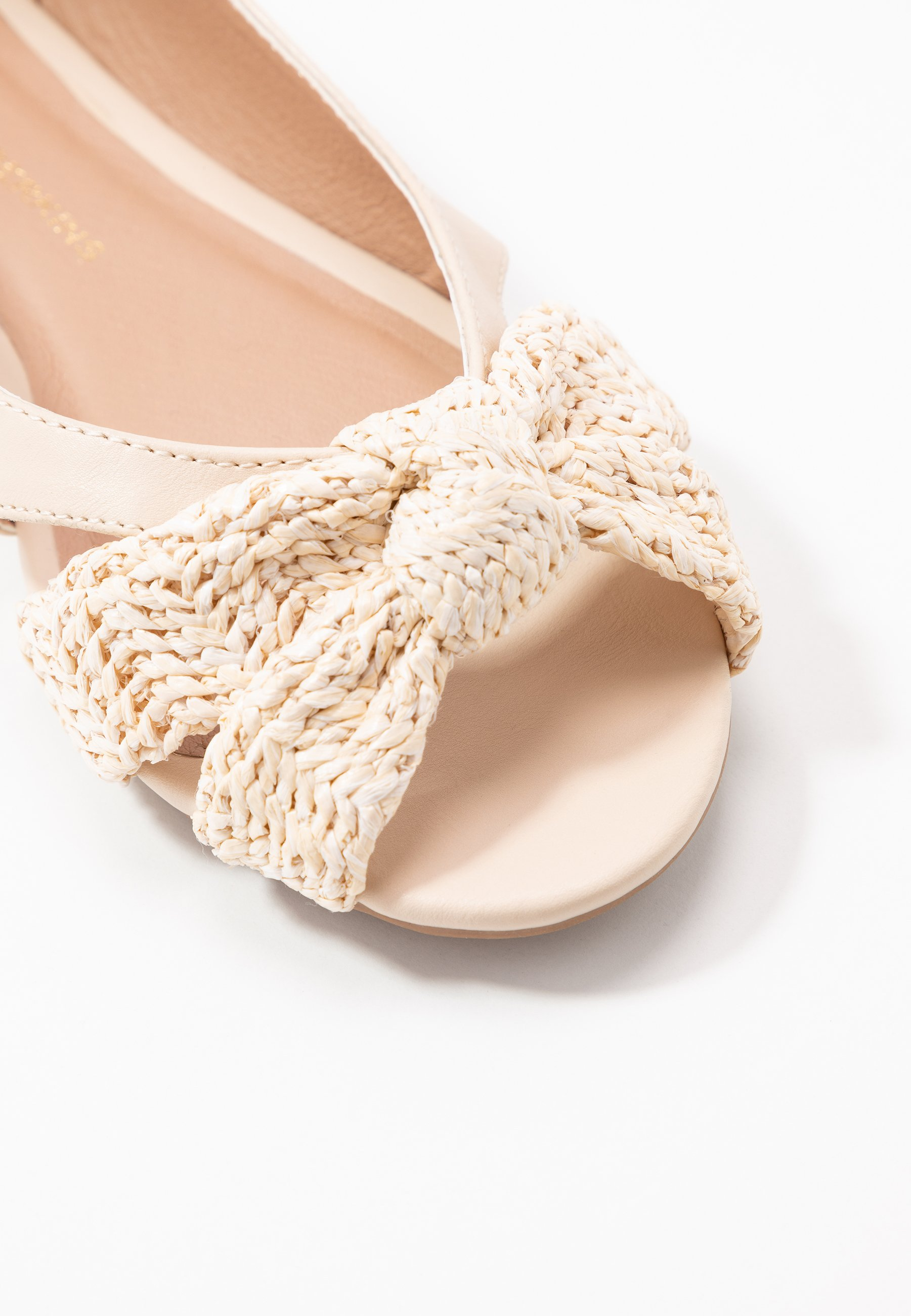 PLOT KNOT PEEP Ballerinaskor med peeptoe white